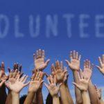Volunteer Hands Up